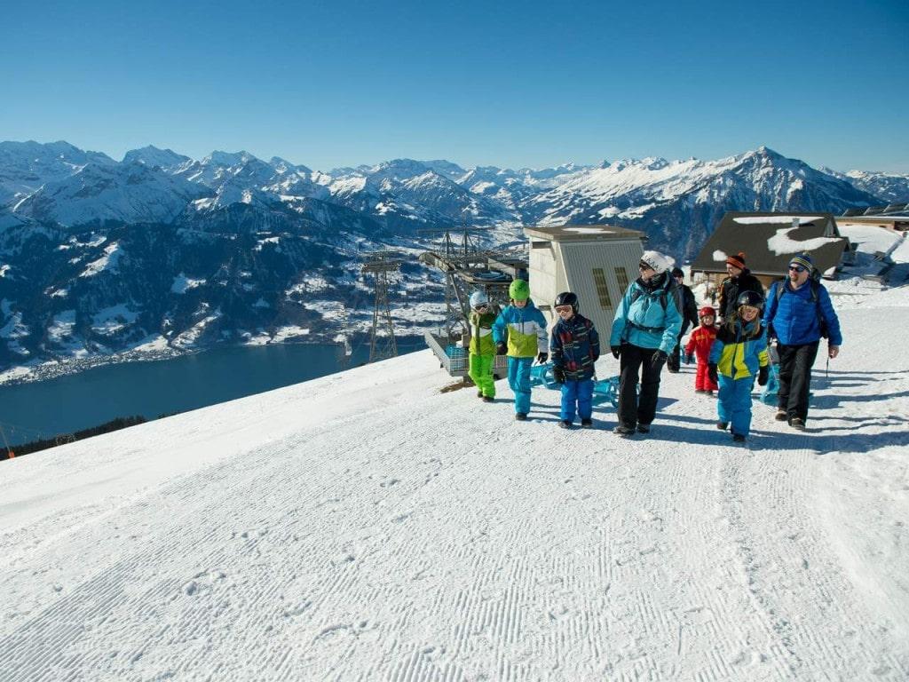 Wandern und Wanderungen Mikrokosmos Jungfrau: Winter-Spaziergang oder Winter-Wanderung am Niederhorn