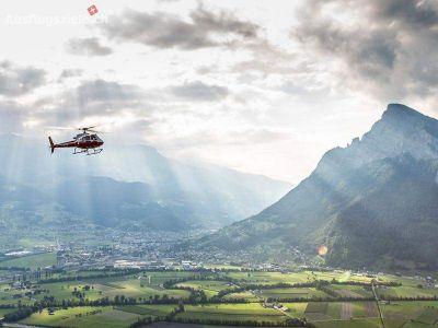 Rundflüge: Graubünden - Helikopterflug Swiss Grand Canyon – Bündner Herrschaft