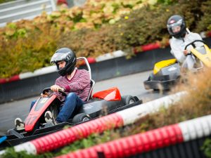 Outdoor Kartbahn im Swiss Holiday Park