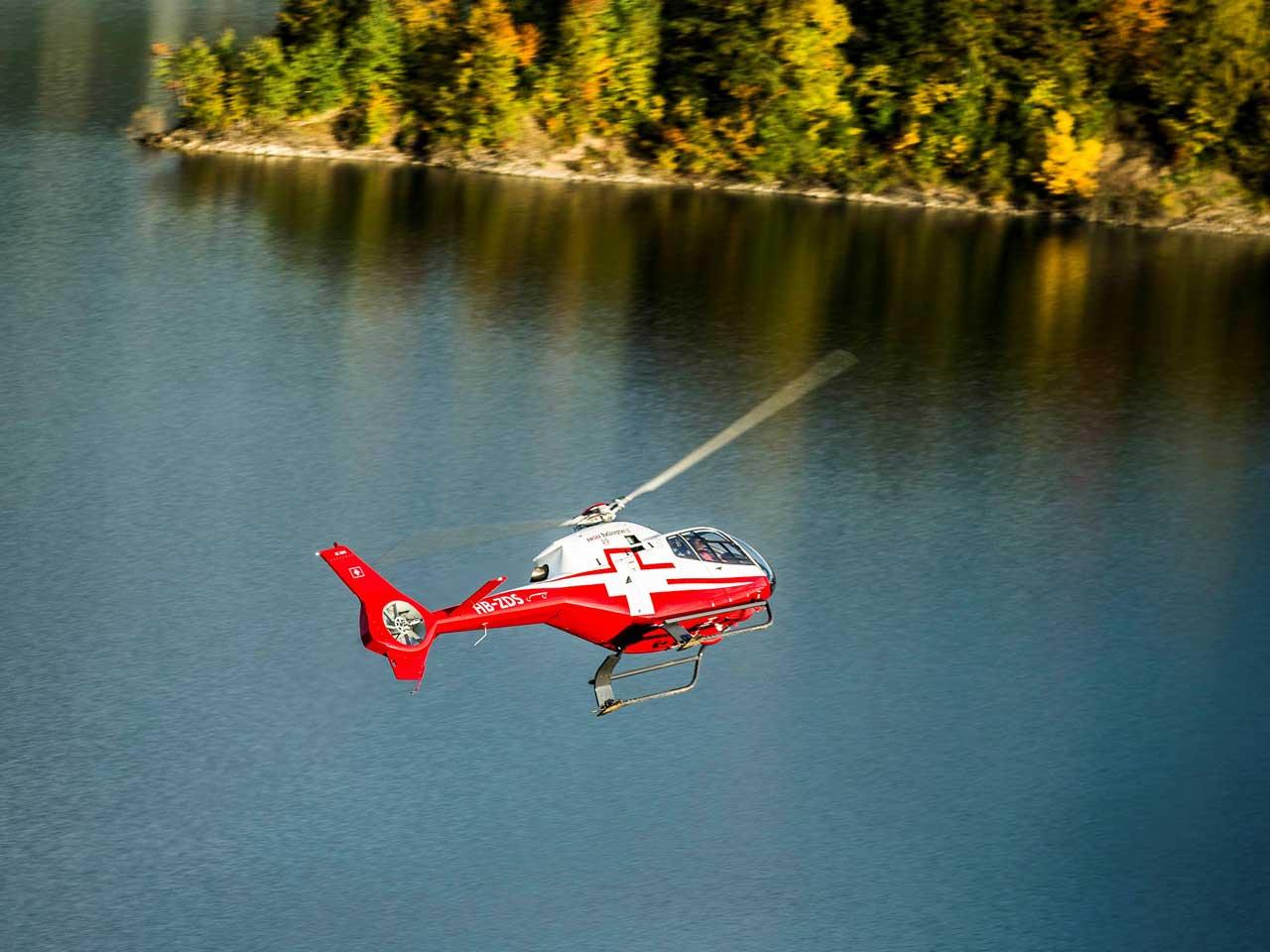 Helikopterflug mit Zmorge