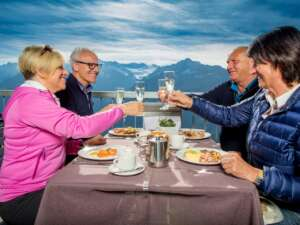 Ausflug: Panoramarestaurant Alpen tower