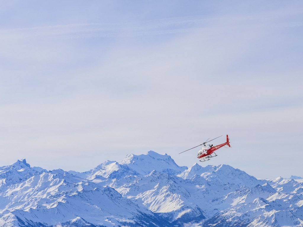 Swiss Helicopter im Winter